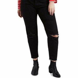 Levi's Wedged Skinny Distressed Denim Black